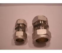 (A) knelkoppeling nikkel  recht