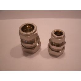 (A) knelkoppeling nikkel  recht 28 mm x 22 mm art.nr: 74.01.330