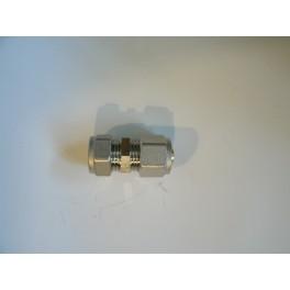 overgangskoppeling recht knel koper /cv buis 15 mm naar