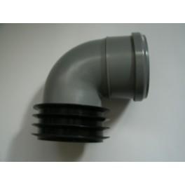 (Z 25) Speciale  Ht-Steekmofbocht  rechtstreeks in de afvoerbuis maat: 110 mm x 90 mm graden : 90 art.nr 800020830