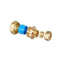 overgangskoppeling cv X) speciale overgangskoppeling voor metalen  stalen buis /pijp 1/2