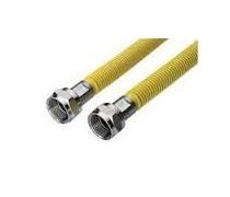 gasslang RVS merk VSH met twee M 24 aansluitkoppelingen 60  cm