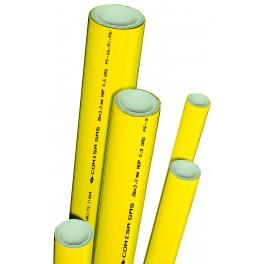(A1) Gasbuis perssysteem diverse maten  lengte  5mtr