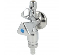 Compacte kraan1 2 aansluiting zonder beluchter met dubbele for Tuinslang aansluiten op kraan zonder schroefdraad