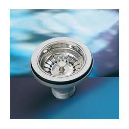 Beroemd L) universele afvoerplug r.v.s. metallic kleur voor keukenspoelbak AU05
