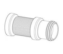 Flexibele bocht met afvoermanchet  uitrekbaar 30-65 cm art 3266087