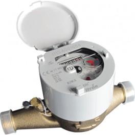 eenvoudige watermeter voor leidingdiameter 15/16 mm aansluiting 3/4 buitendraad art 4462909