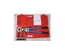 (A3) Handyman Handperstang in koffer voor kopere persfittingen van o.a. Viega incl inzetstukken met V-profiel