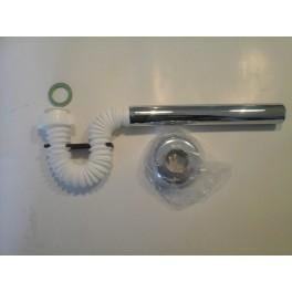 (L)Snel, voordelig!! De flexi  32 mm afvoer met clip afv.plug 1 1/4   art: 2814PP54B7 voor het snel aansluiten van uw wastafels