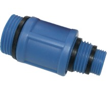 Universele testplug blauw (koud)geschikt voor   3/8-1/2 en 3/4 aansluitingen met binnendraad  art 340709001