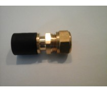 (A) Overgangskoppeling Rehau 16 mm x 15 mm kopere of c.v buis compleet met pershuls