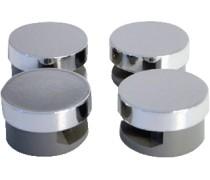 (K)  complete spiegelklemset voor bevestigen spiegels set 4st  draaiklembuttons chroom art 2238289