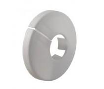 eenvoudig witte rozet voor buismaat 32-35 mm  art 6501167
