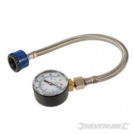 Waterdrukmeter met rvs slang  voor druk-meting  0-11 bar   voor het o.a  opsporen van waterlekkages/drukverlies art 482913