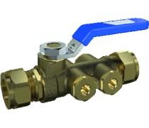 Voordelige Terugstroombeveiliging type EA met aftap 2x 28 mm knel art.3800924