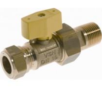 gaskogelkraan 22mm knel x 3/4 buitendraad art 785279