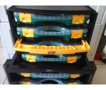 Tayg Opbergbox unit nr 1  met draaghandvat met 4 kleine opbergdozen