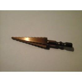 Kleine trapeziumboor 3-13 mm passend op schroefmachine voor o.a.  uitfraisen kunststof leiding