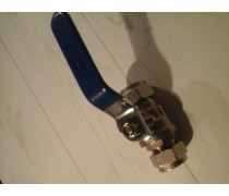 Koopje ! kogelkraan 2x knel zonder aftap met blauwe hendel  art 318795