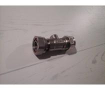 Knelkogelkraankoppeling incl fiberrring Recht 15mm knel x 1/2 draaibare moer 1/2 art 308901