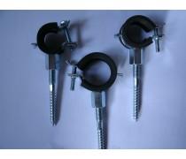 (B9) Stevige rubbere buisklem met M8 moer geleverd  incl stokschroef maat  60 mm art 6547467