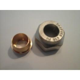 overgangsetje moer 3/4 eurokono naar 15 mm kopere buis/c.v.buis art 1838440