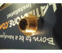 draadverlengstuk/neusstuk Messing duims  binnendraad x 3/4  buitendraad lengte 2cm art.nr B007 /F043CR009