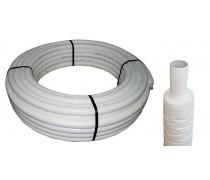 (B1) meerlagenbuis  14mm  x 2 mm rol 50 mtr  met  isolatie 9 mm tegen bevriezing , voor warmtebehoud  art. nr : 87.80.380