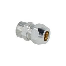 Rechte knelverbinding  1/2 buitendraad x 10 mm knelverbinding art 802001032