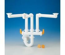 (L) Lira Spazio 3 complete afvoerset 40 mm voor 3 spoelbakken art 9.1273.19