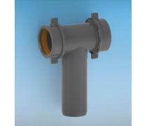 (L) Lira T-aftakking 40 mm  met 2 moer schroefaansluitingen art 8.2400.04