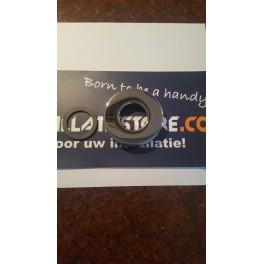 (K) Design- rozet  chroom 32 mm , hoogte 1.5 cm , diameter 7 cm  art 1152005