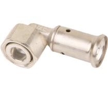 Op aanvraag klant  perskoppeling haaks 26mm x 3/4 draaibare moer