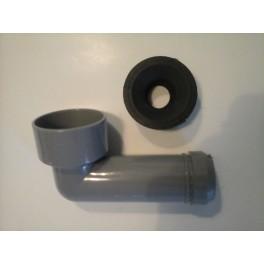 Ht-sifon-Insteek-aansluitbocht  voor aansluiten 32 mm sifon wastafel vanuit muur /wand art.nr SW040300