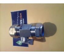 kogelkraan met hendel maat:1/2 duims metalen c.v  buis x 20 mm meerlagenbuis
