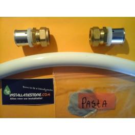 Gesprongen/Lekke Waterleiding reparatieset nr 6 voor 22mm buis opbouw