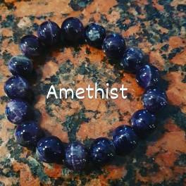 Armband met echte Stenen Amethist