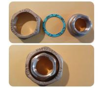 """Schroefkoppelmoerverbinding(special) incl fiberring  """"1 1/2"""" duims  Moer x 3/4 duims bi  art F168R004"""