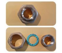Schroefkoppelmoerverbinding(special) incl fiberring   Duims moer  x 1/2 duims bi  art F168R001