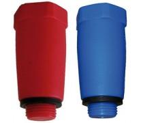 testplug 1/2  warm /koud om waterleiding  af te doppen rood (warm art:87.80.490) blauw (koud art:87.80.491)